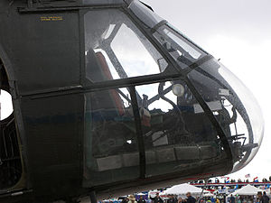 Piasecki H-21 - Cockpit view of the H-21.