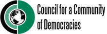 Logo of the Council for a Community of Democracies