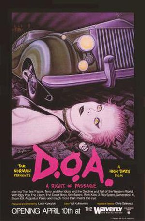 D.O.A.: A Rite of Passage - Image: D.O.A. A Rite of Passage Film Poster