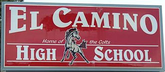 El Camino High School (South San Francisco) - Image: Echs ssf sign 1