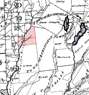 William Edmeston - Possible location of Edmestons' expansion into the 20 Townships west of the Unadilla, c. 1792