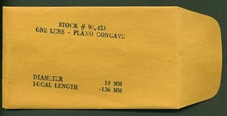 Edmund Scientific Corporation - An Edmund lens envelope.