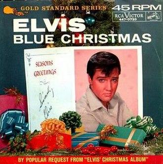Blue Christmas (song) - Image: Elvis Presley Blue Christmas 2