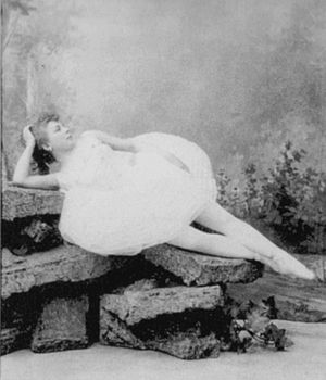 The Enchanted Forest (ballet) - The ballerina Maria Anderson costumed as Ilka in La Forêt enchantée. St. Petersburg, 1892.