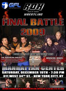 Final Battle 2009 2009 Ring of Honor pay-per-view