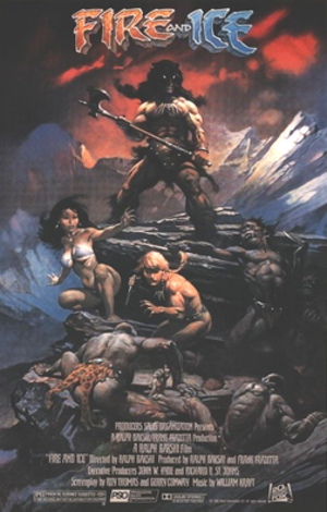 Fire and Ice (1983 film) - Theatrical release poster