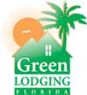 Green lodges - Official logo of Green Lodging Florida