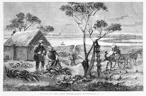 Lake Connewarre - Opening of the game season at Lake Connewarre, 1874