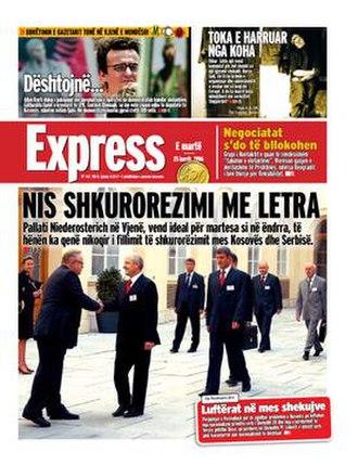 Gazeta Express - Cover of Gazeta Express, year 2006