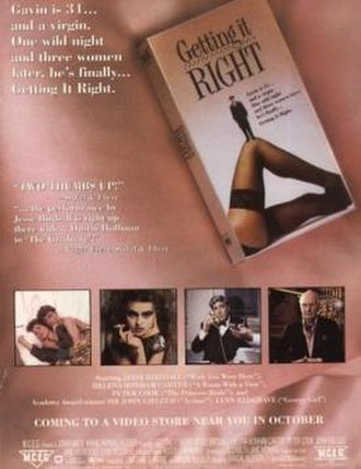 Getting It Right (film) - Image: Getting It Right Film Poster
