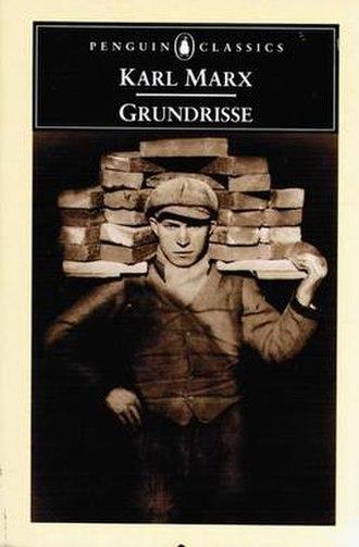 Grundrisse - Image: Grundrisse Karl Marx