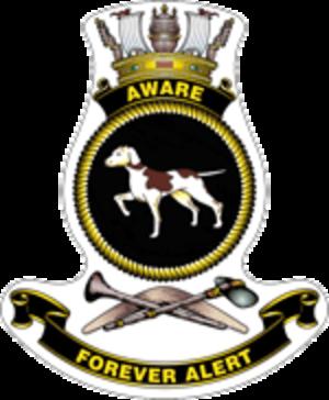 HMAS Aware (P 91) - Ship's badge