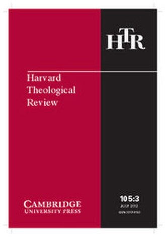 Harvard Theological Review - Image: Harvard Theological Review 2012 cover