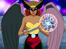 HAWKGIRL ANIMATED JUSTICE LEAGUE PRINT