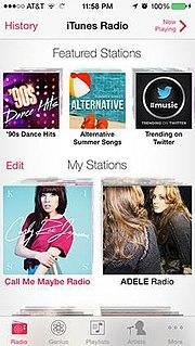 iTunes Radio Internet radio service by Apple