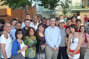 Young Liberals of Canada - Former Liberal Leader Michael Ignatieff with Young Liberals in 2010