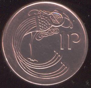 Penny (Irish decimal coin) - Image: Irish penny (decimal coin)