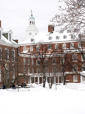 Whiting School of Engineering - Gilman Hall from the Engineering Quad