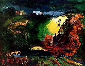 John Piper (artist) - Middle Mill, Pembrokeshire, 1982