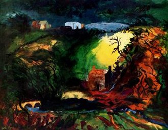 John Piper (artist) - Middle Mill, Pembrokeshire, 1982