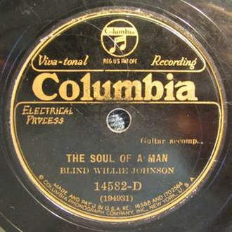 Soul of a Man (song) - Image: Johnson Soul Of A Man