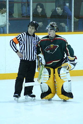 Wiarton Rock - King goalie with GMHL Official (2007)