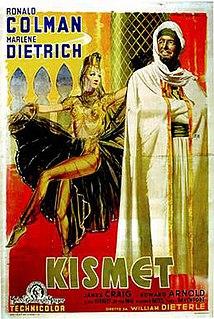 <i>Kismet</i> (1944 film) 1944 Metro-Goldwyn-Mayer film directed by William Dieterle