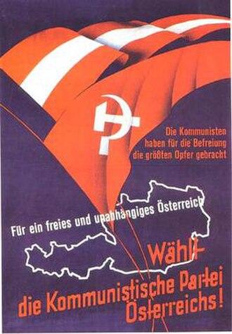 Communist Party of Austria - Image: Kommunistische Partei Österreichs (poster)