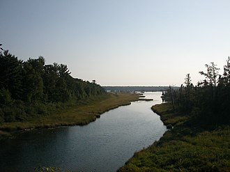 Madeline Island - Lagoon in the interior of Madeline Island in summer, 2005. It is primarily a wildlife refuge.