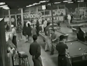 Murder of Lea Mek - Surveillance camera footage from inside the pool hall moments before the murder