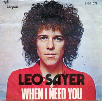 When I Need You - Image: Leo Sayer When I Need You