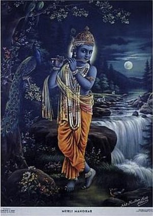 Narottam Narayan - Murli Manohar, the most recognisable painting of Narottam Narayan and a best-selling image.