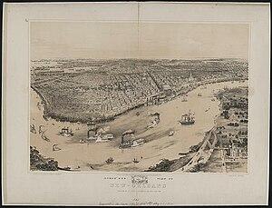 John Bachmann - John Bachmann, Bird's Eye View of New Orleans, 1851 (Library of Congress)