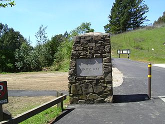 Tilden Regional Park - Nimitz Way Entrance at Inspiration Point