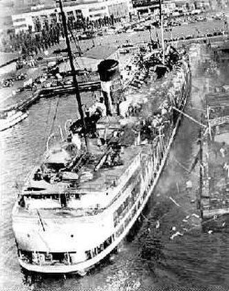 SS Noronic - The burned-out hull of the Noronic