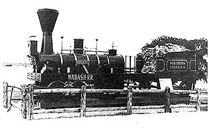 Northern Cross Railroad - An early Northern Cross (later Wabash) locomotive.