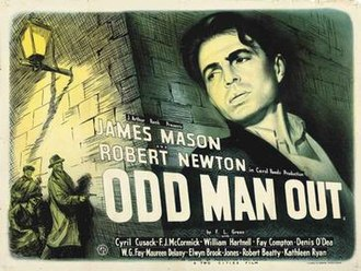 Eric Pulford - An early poster by Pulford for which he did the design and art himself. Odd Man Out starring James Mason.