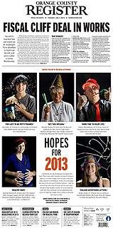 <i>Orange County Register</i> daily newspaper in Santa Ana, California