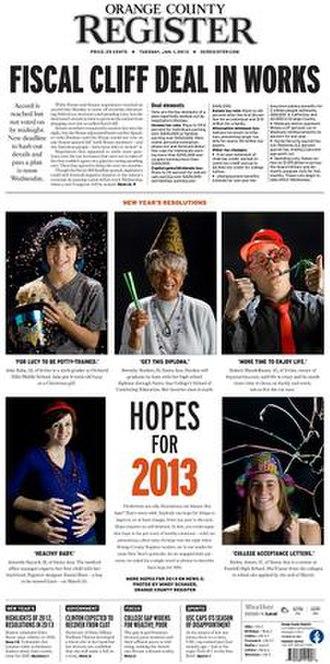 Orange County Register - Image: Orange County Register, Jan. 01, 2013,jpg