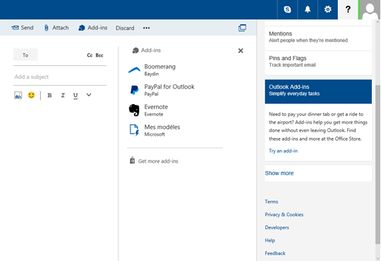 Outlook Preview message add-ins