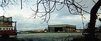 Pembroke Dock - The hangars dominate the landscape
