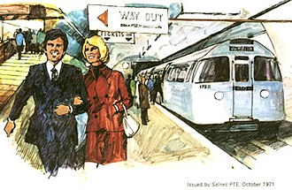 Picc-Vic tunnel - An artist's impression of the Picc-Vic line (1971)