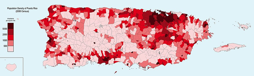 Population Density, PR, 2000 (sample)