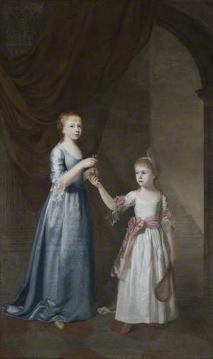 William Bell (artist) - Portrait of sisters Frances and Sarah Delaval, painted by William Bell in 1771