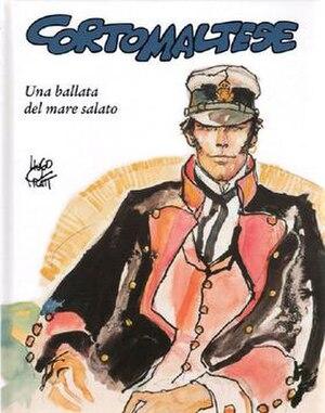 Hugo Pratt - Cover of Italian publication Una ballata del mare salato