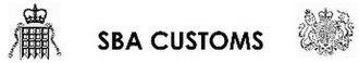 Sovereign Base Areas Customs - Image: SBA Customs