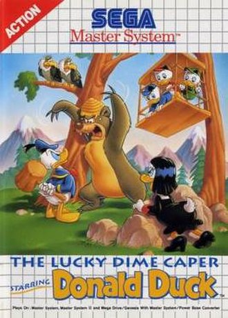 Lucky Dime Caper - Master System Cover art