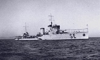 Raid on Souda Bay - Destroyer Sella, one of the mother ships of the explosive motor boats