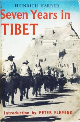 Heinrich Harrer - Seven Years in Tibet book cover with an Introduction by Peter Fleming