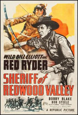 Sheriff of Redwood Valley - Theatrical release poster